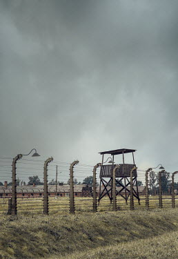 Joanna Czogala PRISON CAMP WITH LOOKOUT TOWER AND FENCES Gates