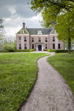 Yolande de Kort LARGE HOUSE WITH PATHWAY IN COUNTRYSIDE Houses