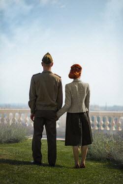 Ildiko Neer Wartime couple standing in garden