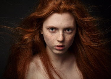 Alexey Kazantsev SERIOUS GIRL WITH RED HAIR AND FRECKLES Women