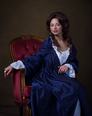 Alexey Kazantsev HISTORICAL WOMAN IN NIGHTDRESS SITTING IN CHAIR Women
