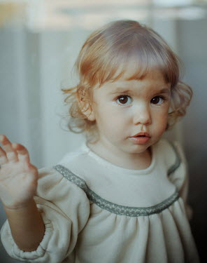 Felicia Simion CUTE BLONDE LITTLE GIRL IN DRESS Children