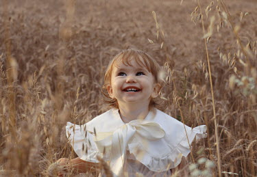 Felicia Simion SMILING BLONDE LITTLE GIRL IN WHEAT FIELD Children