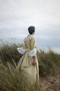 Matilda Delves HISTORICAL WOMAN IN SAND DUNE WATCHING SEA Women