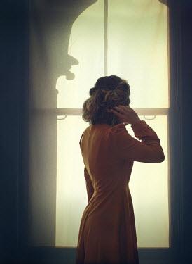 Mark Owen RETRO WOMAN WATCHING AT WINDOW Women