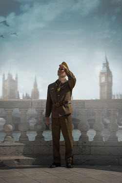Ildiko Neer Soldier in uniform standing in London