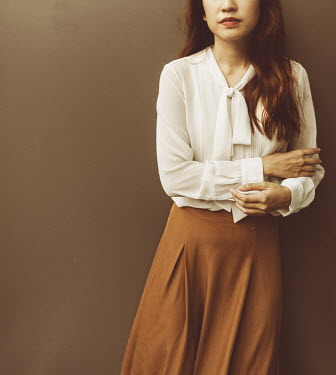 Jessica Lia BRUNETTE WOMAN IN SKIRT AND BLOUSE Women