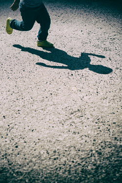 Mohamad Itani SHADOW OF LITTLE BOY RUNNING OUTDOORS Children