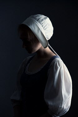 Magdalena Russocka HISTORICAL MAID WITH BONNET IN SHADOW Women