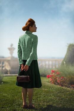 Ildiko Neer Vintage woman standing in park
