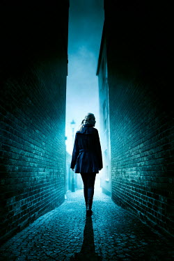 Silas Manhood BLONDE WOMAN IN DARK ALLEYWAY Women
