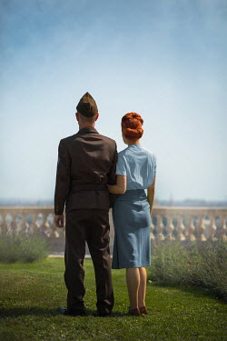 Ildiko Neer Wartime couple standing in garden