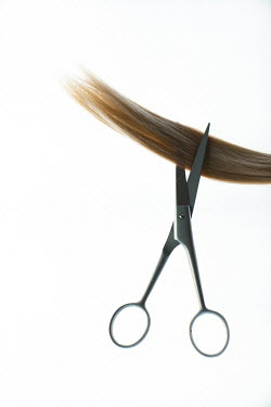 Ildiko Neer Scissors cutting blonde hair Miscellaneous Objects
