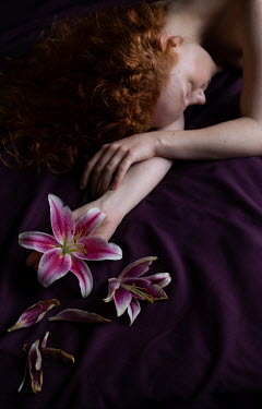Holly Leedham Woman holding lily