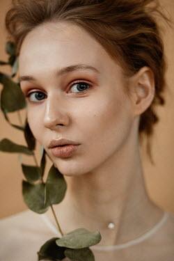 Elena Alferova Portrait of young woman with vine