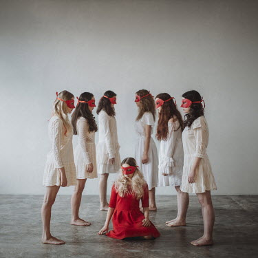 Dasha Pears GROUP OF WOMEN IN MASKS Women