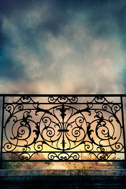 Silas Manhood ORNATE WROUGHT IRON FENCE WITH PATHWAY Gates