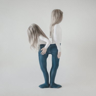 Dasha Pears TWO BLONDE GIRLS STANDING IN PAIR OF TIGHTS Children