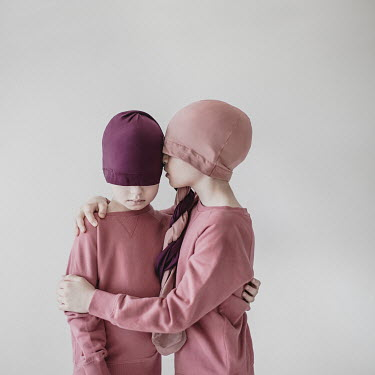 Dasha Pears TWO BOYS WITH HEADS COVERED IN TIGHTS Children