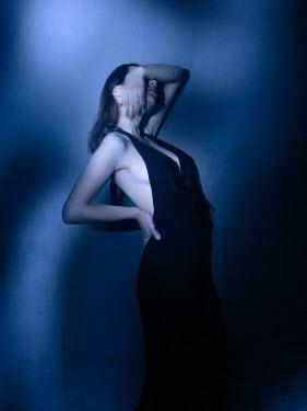Ihor Ustynskyi WOMAN IN EVENING DRESS COVERING FACE Women