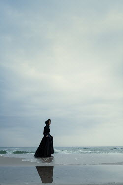 Magdalena Russocka victorian woman on beach