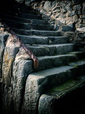 David Baker Stone steps in shadow
