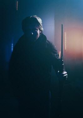Ysbrand Cosijn Man with rifle at sunset