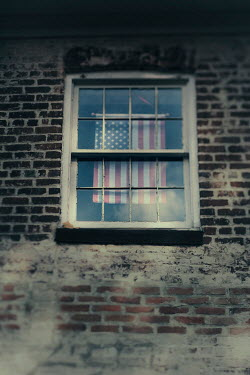 Lisa Bonowicz American flag in window