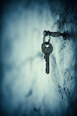 Magdalena Russocka key hanging from hook on wall Miscellaneous Objects