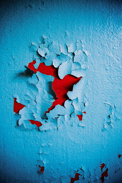 Natasza Fiedotjew Layered paint on wall peeling off