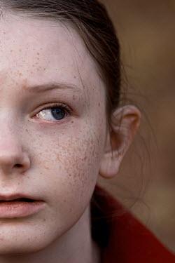 Elisabeth Ansley Close up of freckled girl crying