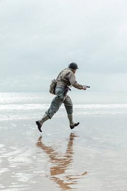 Matilda Delves Soldier running on beach