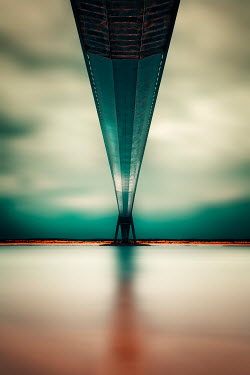 David Keochkerian MODERN BRIDGE OVER CALM RIVER Bridges