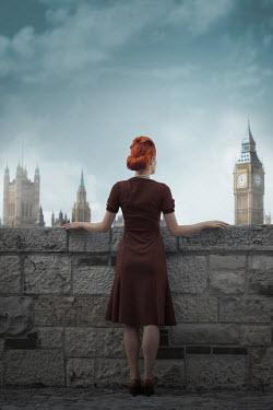 Ildiko Neer Vintage woman standing in London