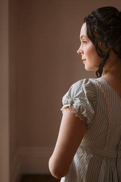 Shelley Richmond BRUNETTE REGENCY WOMAN INDOORS WATCHING AT WINDOW Women