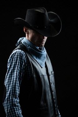 Magdalena Russocka man in cowboy hat inside