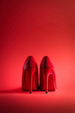 Paolo Martinez PAIR OF RED HIGH HEEL SHOES Miscellaneous Objects