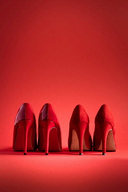 Paolo Martinez TWO PAIRS OF RED HIGH HEEL SHOES Miscellaneous Objects