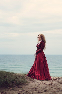 Magdalena Russocka historical woman standing by sea