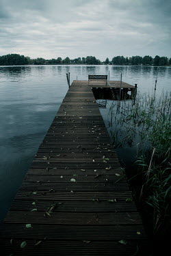 Carmen Spitznagel Wooden jetty on lake