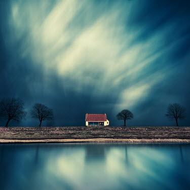 David Keochkerian House by lake under clouds