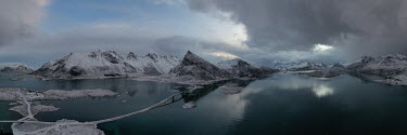 Ollie Taylor Mountains and bridges in Hamnoy, Lofoten Islands, Norway