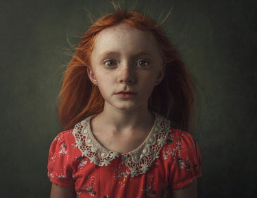 Anna Buczek Portrait of girl with red hair