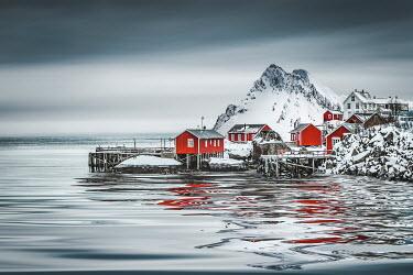 Evelina Kremsdorf Fishing village by sea in Nusfjord, Lofoten, Nordland, Norway