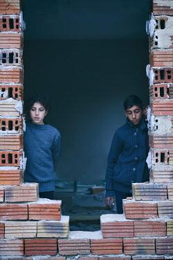 Tanya Gramatikova MIDDLE EASTERN CHILDREN INSIDE BUILDING Children