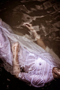 Natasza Fiedotjew WOMAN IN NIGHTGOWN FLOATING IN WATER Women