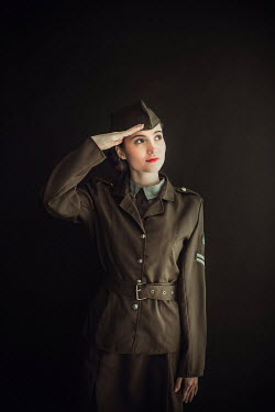 Ildiko Neer Wartime woman saluting in uniform Women