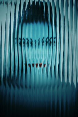 Ildiko Neer Distorted close up of woman