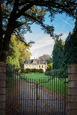 Yolande de Kort GRAND HOUSE WITH CLOSED IRON GATES Houses