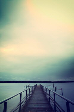 Carmen Spitznagel LONG EMPTY JETTY ON CALM LAKE Lakes/Rivers